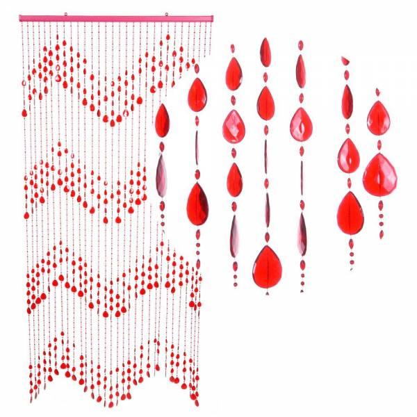 Gardinen und Vorhänge - Türvorhang KLUNKER Farbe ROT Material Kunststoff Größe 90 x 200 cm  - Onlineshop Hab und Gut Design