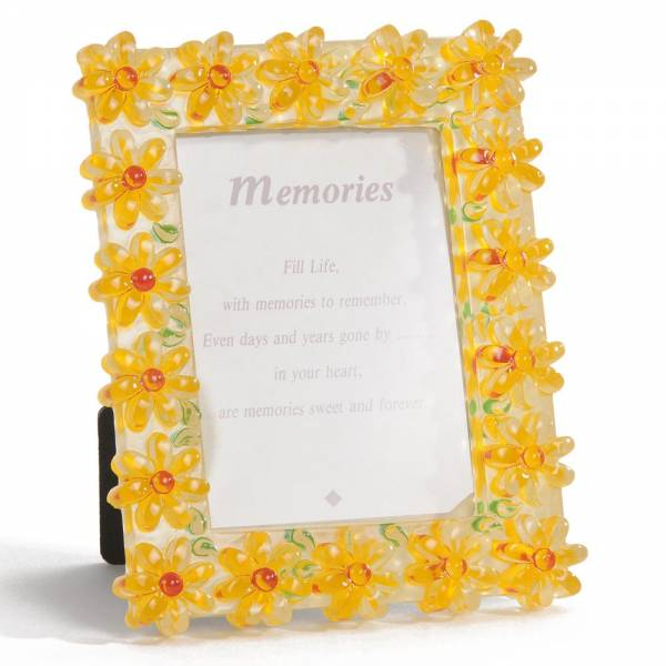 Bilder und Rahmen - Bilderrahmen FLOWERS 13x11 cm gelb  - Onlineshop Hab und Gut Design