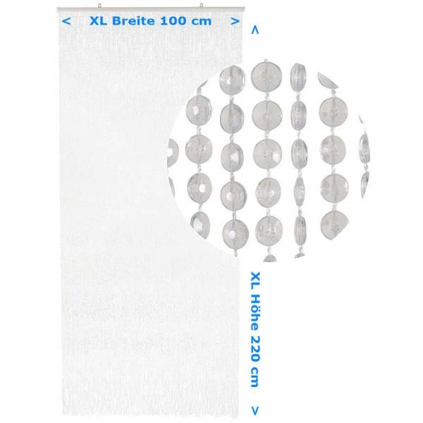 Gardinen und Vorhänge - Türvorhang Form MINI DIAMANTEN Farbe KLAR Material Kunststoff Größe 100 x 220 cm  - Onlineshop Hab und Gut Design