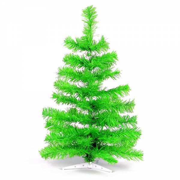 Jahreszeitendeko - Künstlicher Weihnachtsbaum farbiger Tannenbaum hellgrün Höhe 60 cm  - Onlineshop Hab und Gut Design
