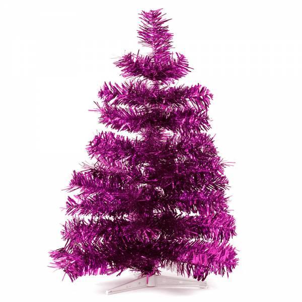 Jahreszeitendeko - Künstlicher Weihnachtsbaum farbiger Tannenbaum VIOLETT metallic Höhe 60 cm  - Onlineshop Hab und Gut Design