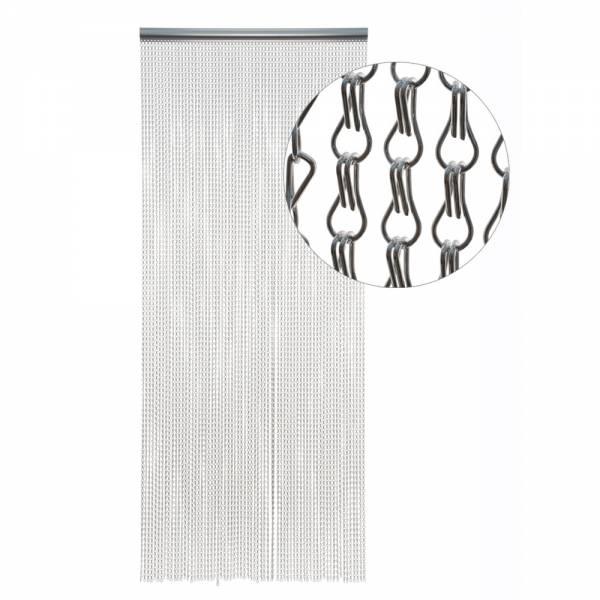 Gardinen und Vorhänge - Türvorhang Form METALLGLIEDER Farbe SILBER Material Metall Größe 115 x 220 cm  - Onlineshop Hab und Gut Design