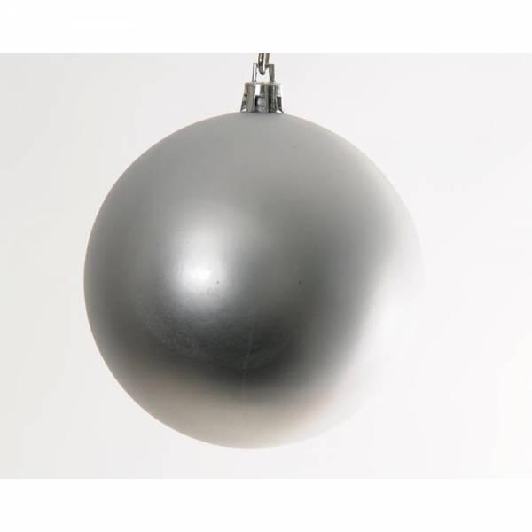 Jahreszeitendeko - Weihnachtskugel BIG BOWL 6er Set Farbe silber  - Onlineshop Hab und Gut Design