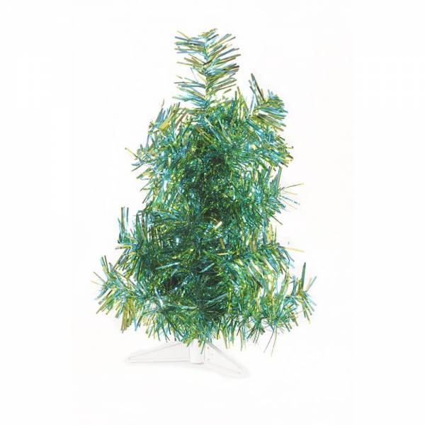 Jahreszeitendeko - Künstlicher Weihnachtsbaum farbiger Tannenbaum hellblauapfelgrün metallic Höhe 30 cm  - Onlineshop Hab und Gut Design