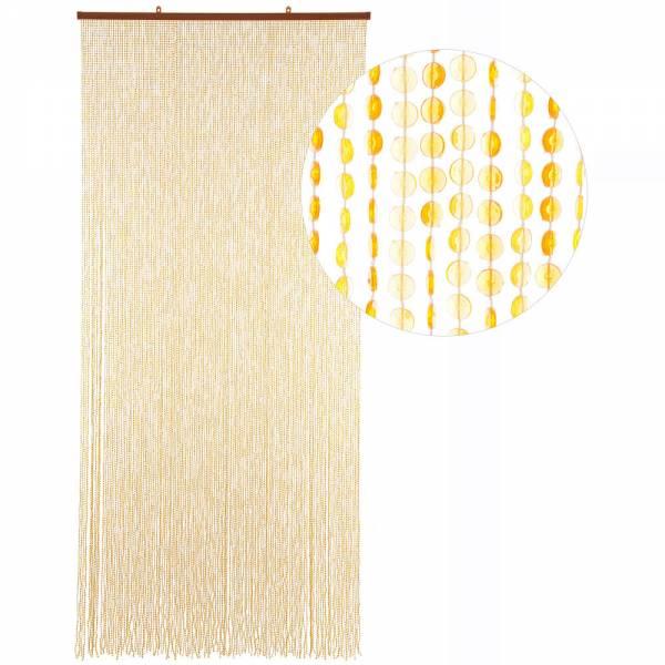 Gardinen und Vorhänge - Türvorhang Form MINI DIAMANTEN Farbe GELB ORANGE Material Kunststoff Größe 90 x 200 cm  - Onlineshop Hab und Gut Design
