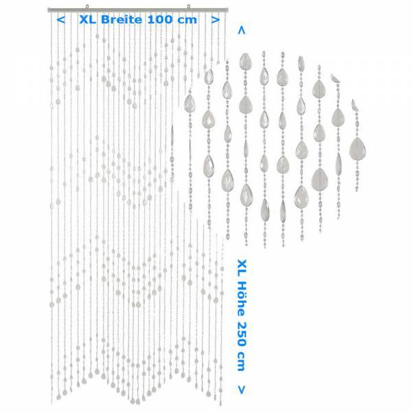 Gardinen und Vorhänge - Türvorhang KLUNKER Farbe KLAR XL Material Kunststoff Größe 100 x 250 cm  - Onlineshop Hab und Gut Design