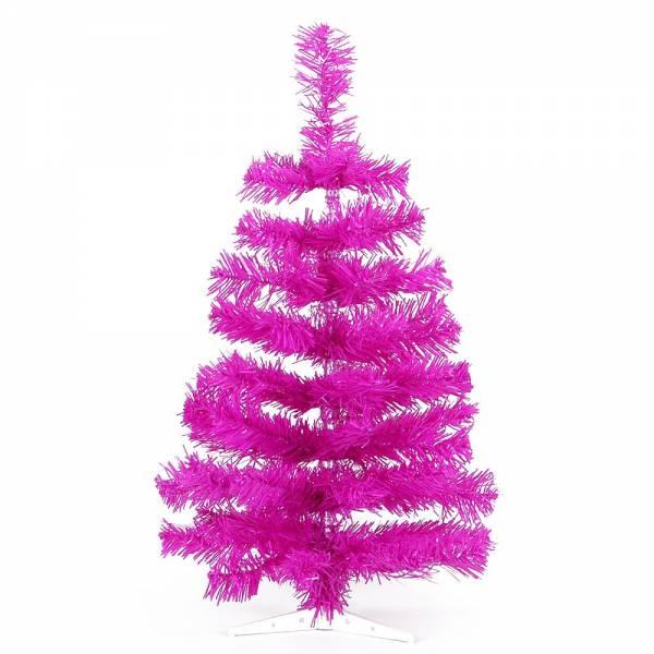 Jahreszeitendeko - Künstlicher Weihnachtsbaum farbiger Tannenbaum purple Höhe 90 cm  - Onlineshop Hab und Gut Design