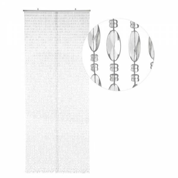 Gardinen und Vorhänge - Türvorhang Form TWISTER Farbe KLAR SEHR DICHT Material Kunststoff Größe 100 x 220 cm XL  - Onlineshop Hab und Gut Design