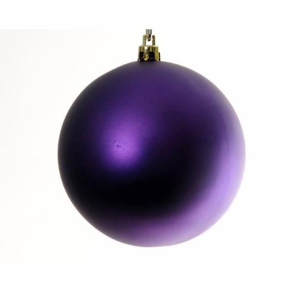 Jahreszeitendeko - Weihnachtskugel BIG BOWL 6er Set Farbe violet  - Onlineshop Hab und Gut Design