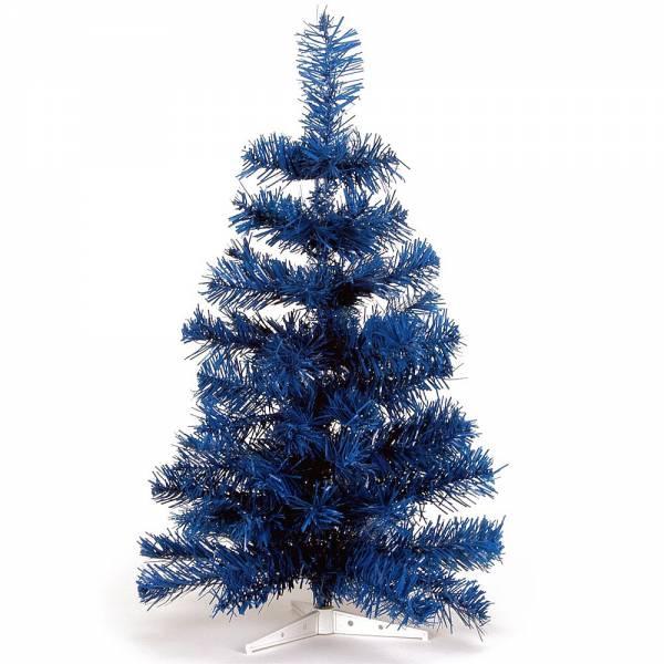 Jahreszeitendeko - Künstlicher Weihnachtsbaum farbiger Tannenbaum blau Höhe 60 cm  - Onlineshop Hab und Gut Design