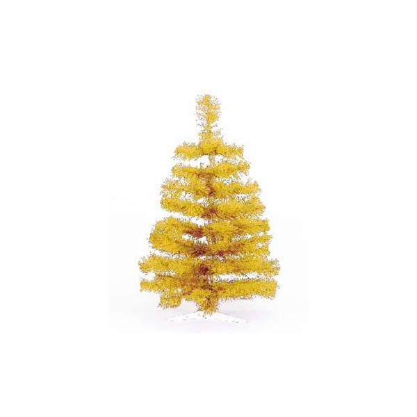 Jahreszeitendeko - Künstlicher Weihnachtsbaum farbiger Tannenbaum gold Höhe 30 cm  - Onlineshop Hab und Gut Design