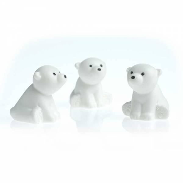 3 Eisbären mit starkem Magnet Kühlschrankmagnete
