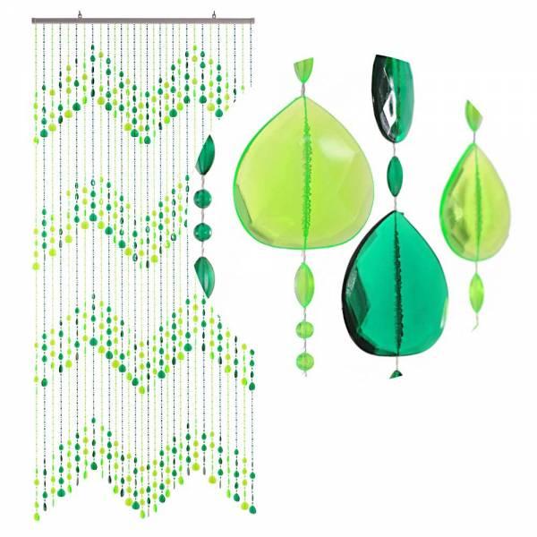 Gardinen und Vorhänge - Türvorhang KLUNKER Farbe GRÜN Material Kunststoff Größe 90 x 200 cm  - Onlineshop Hab und Gut Design