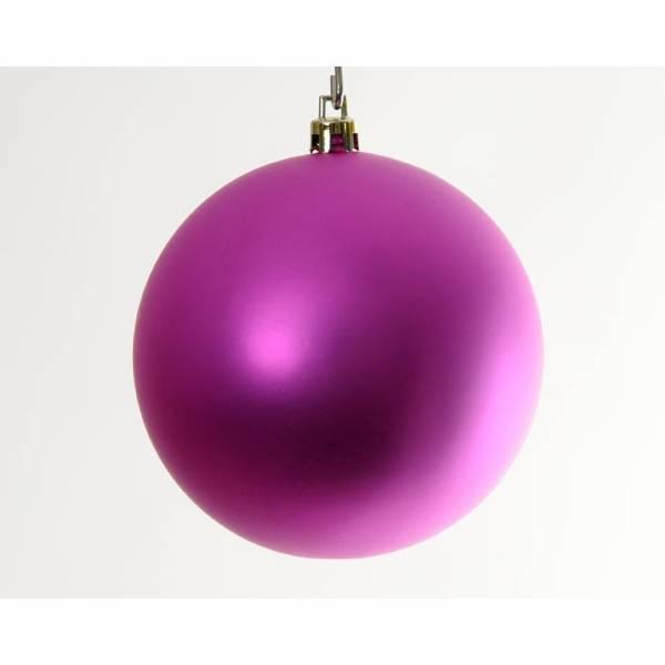 Jahreszeitendeko - Weihnachtskugel BIG BOWL 6er Set Farbe pink  - Onlineshop Hab und Gut Design