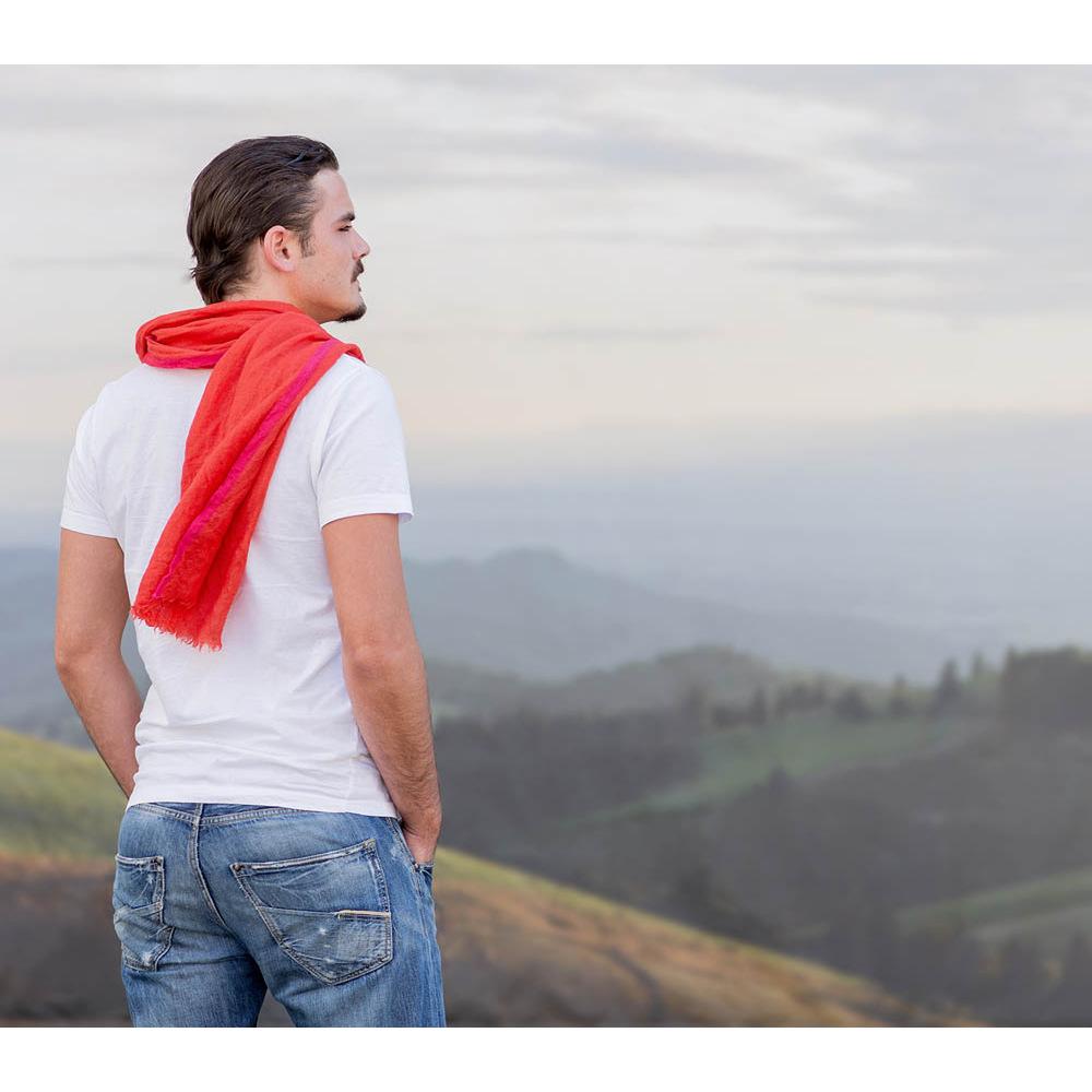 stilvoller Schals für Frauen und Männer Unisex, HINZE Designerschal aus Leinen